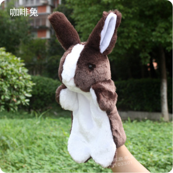 White Rabbit super soft Long Ears bunny hand puppet