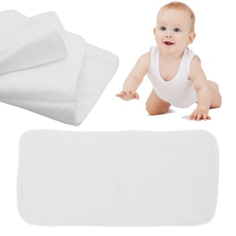 White Reusable Baby Cotton Gauze Diaper New Nappy Liners Insert 8Layers - intl