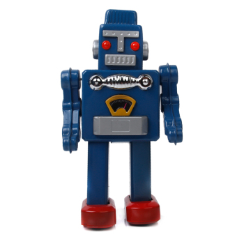 Wind Up Big Robot - Blue - picture 2