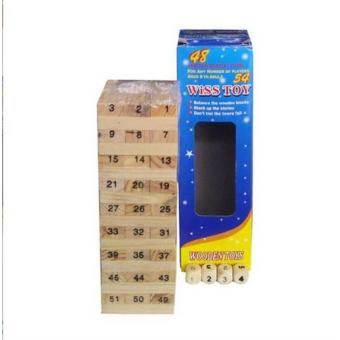 WISS Toy Wooden Plain Jenga