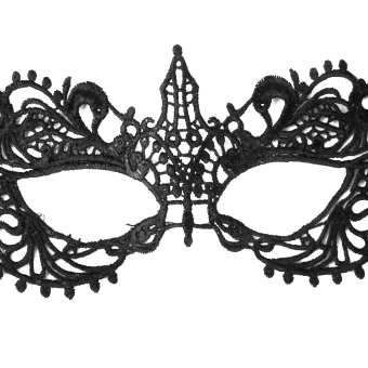 Women Black Sexy Venetian Masquerade Pointed Eye Mask Lace Party Fancy Dress - picture 2