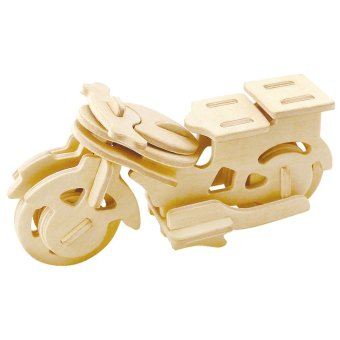 Wooden 3D Three-Dimensional DIY Jigsaw Puzzle Children's Intelligence Education Toys Christmas Gifts (Intl)