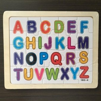 Wooden ABC Jigsaw Puzzle Plain