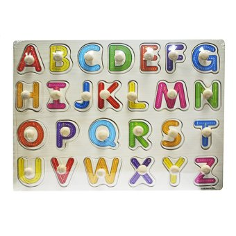 Wooden Alphabet A-Z Big Letters and Wooden Numbers 1-10 and Shapes - picture 2