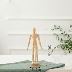 PHP 455. Wooden Artist Movable Tips Wooden Male Action Figure Model Mannequin BJD Art Sketch Draw ...