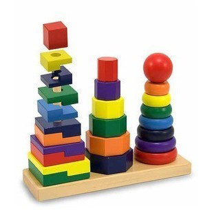 Wooden Building Blocks sets column early childhood toys of high