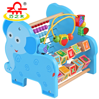 Wooden Children's Early Childhood Abacus knock piano wear beads