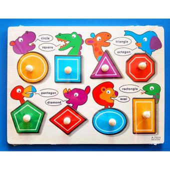 Wooden Inset Board Shapes Puzzle - Educational and Therapeutic Toy