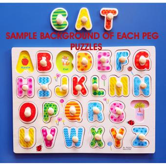 Wooden Inset Pegged Puzzle Board Numbers and Shapes Educational andTherapeutic toy for Kids - 2