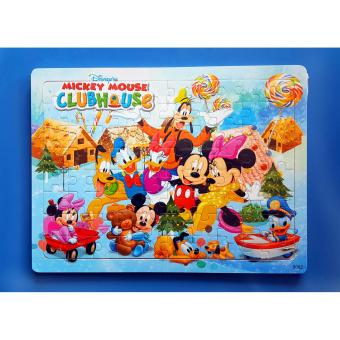 Wooden Jigsaw Puzzle Board Mickey Mouse Clubhouse - Educational Toy for Kids