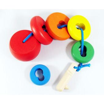 Wooden Lock String Lacing Blocks - Educational and Therapeutic Toy Price Philippines