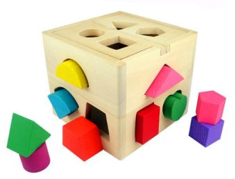 Wooden Shape Sorting Box - Educational and Therapeutic Toy for Kids - 2