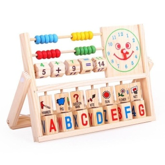 Wooden Toys Educational Blocks Baby Early Learning Teaching Set Toy- intl
