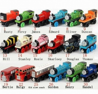 Wooden Trains Model Toy Magnetic Train Kids Toys Gifts for Children Boys Girls(size:14). - Intl Price Philippines