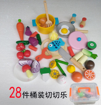 Wooden wooden magnetic cut fruit toys