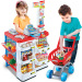 Work table fast food table supermarket shopping cart cash register machine toys