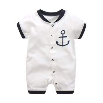 Xhy0265 cotton baby one-piece summer crawling clothes