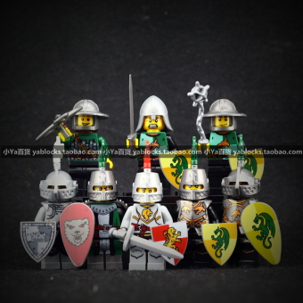 Xin Hong knight people series warrior horses building blocks