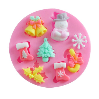 XMAS Silicone Fondant Cake Mold Christmas Chocolate Sugarcraft Snowman - Intl - picture 2