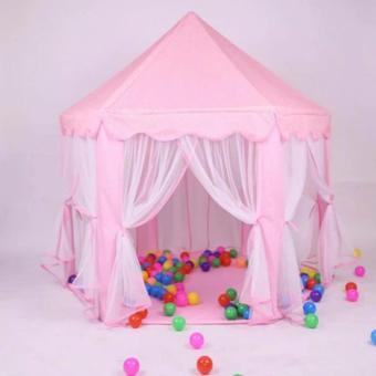 XZY-Prince/Princess Indoor Outdoor Tent Big Game House (Pink) - 2