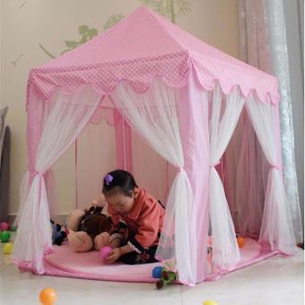 XZY-Prince/Princess Indoor Outdoor Tent Big Game House (Pink) - 3