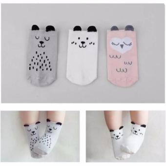 Y&H 3 Pairs Baby Girls Slip-resistant Cotton Socks For 0-12 Months - intl