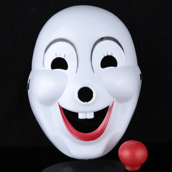 YBC Halloween Hard Plastic Clown Mask Party Costume Masks