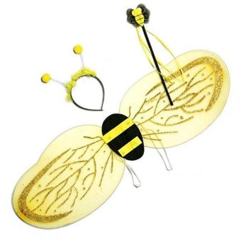 Yellow Bumblebee Bee Wings Wand Dressing Dress Costume HalloweenParty Price Philippines