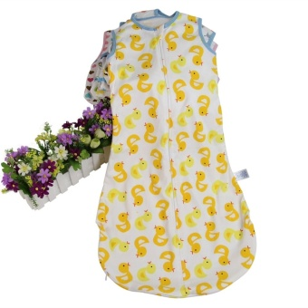 Yellow Ducks Baby Sleeping Bag Cotton Soft Comfortable AndSleeveless(6-24 months) - Intl Price Philippines