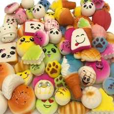 PHP 2.883. Yeng 20 Pieces Random Kawaii Soft Foods Squishy Charms Cake/Panda /Bread/Buns Phone Straps Pendants ...