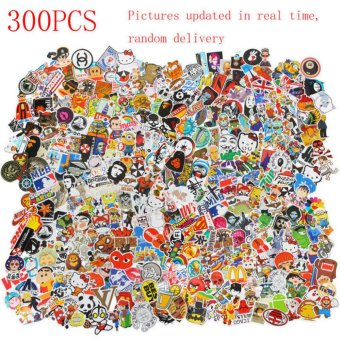 Yika 300pcs /lot Sticker Bomb Decal Vinyl Roll Car Laptop Luggage Skate Skateboard - intl