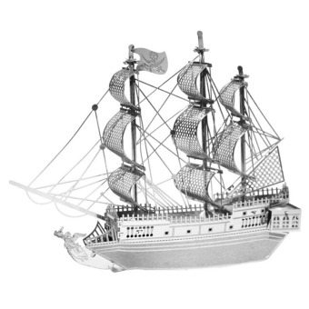 Yingwei 3D Model Micro Sculpture Puzzle DIY Toys Pirate Ship Silver Price Philippines