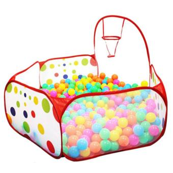 YingWei Portable Kids Child Ocean Ball Pit Pool Play Tent for Indoor Outdoor Game Toy Red - intl
