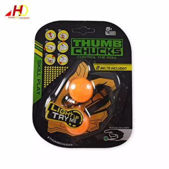 Yo-yo Skill toy Thumb Chucks Fidget Toys Bundle Control Roll GameFinger Anti Stress Toys (Orange) Price Philippines