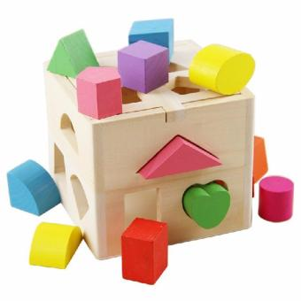 Young Mindz Shape Sorting Cube Wood Toy
