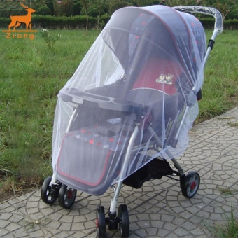Zrong New Infants Baby Stroller Pushchair Mosquito Insect Net Safe Mesh White Buggy Cover (White) - intl