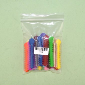 1 Pack Dental Orthodontic Ligature Ties (Multi-color)1040pcs - intl