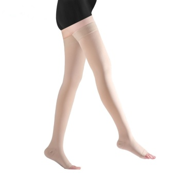 1 Pair Brace Compression Stockings Varicose Veins 23-32mmHg Pressure Level 2 Mid-Calf Length Medical Stockings for Varicose Veins,Beige - intl - 4