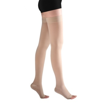 1 Pair Brace Compression Stockings Varicose Veins 23-32mmHg Pressure Level 2 Mid-Calf Length Medical Stockings for Varicose Veins,Beige - intl