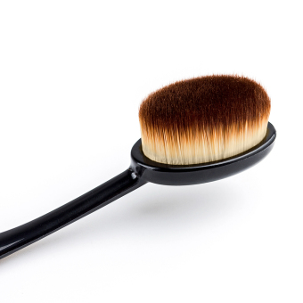 1 pcs Toothbrush Makeup Brushes for Face Powder Blusher CosmeticBeauty Oval Curve Foundation Brush Make Up Tools (Black) - Intl - 2