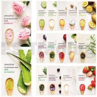 (10 sheet 10 kinds Mask) Innisfree It?s Real Squeeze Mask (100%Original) - intl