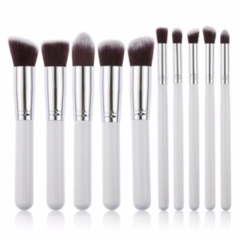 10pcs Hot Sale Professional Makeup Brushes Facial Care Powder BlushCosmetics Make Up Brush Tools Foundation Brush - intl