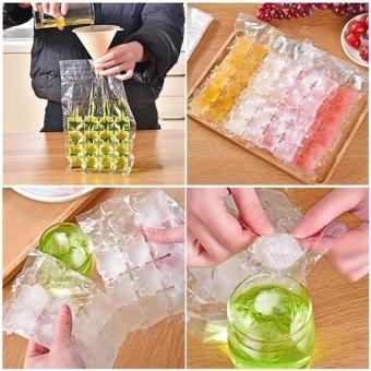 10Pcs/set Fridge Self-sealing Ice Packs Portable Disposable CubeTray Mould Bag One-time using - intl - 4
