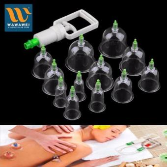 12 pcs Medical Vacuum Cupping with Suction Pump Suction TherapyDevice Set herapy Kit body relaxation healthy Massage set