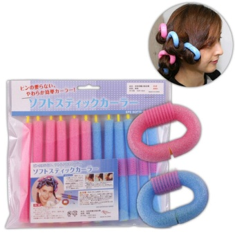 12Pcs/Bag Curly Hair Stick Pearl Cotton Beauty Hair Tool DIY Making Style Girls - intl - 4