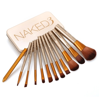 12pcs/set NAKED3 Power Brush URBAN Makeup Brushes Nake 3Professional Make Up Brush kit Maquiagem Beauty eye Face Tool MetalBox