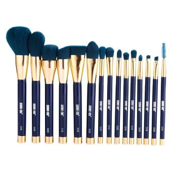 15PCS Cosmetic Eye Shadow Foundation Lip Makeup Brush Set (Darkgreen) - intl