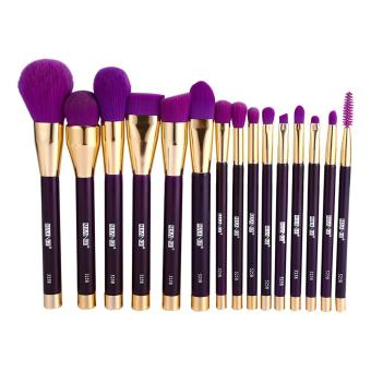 15pcs Makeup Brush Set Eye Face Lip Blush Cosmetic Tool (purple) - intl