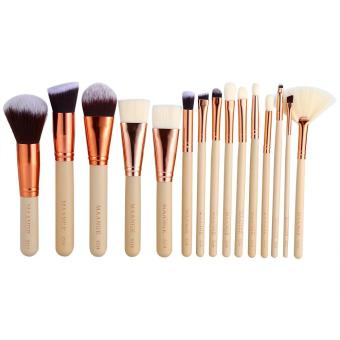 15pcs Powder Eyes Face Lip Makeup Brushes Cosmetic Tool (light color) - intl