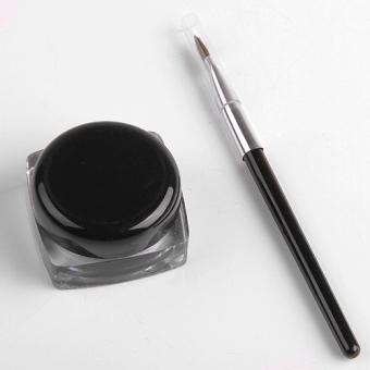 1pc Black Eye Liner Gel + Eyeliner Brush Make Up Tool Cosmetic Makeup Waterproof